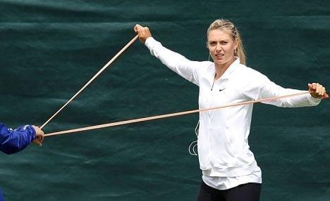 Ejercicios de calentamiento en el tenis (Maria Sharapova)